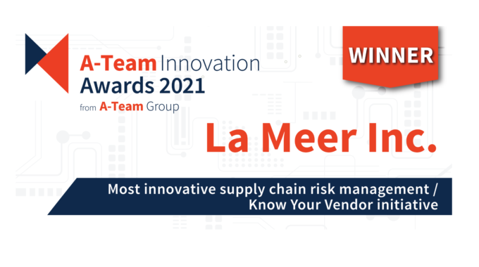PRESS RELEASE: La Meer Wins The A-Team Innovation Awards 2021