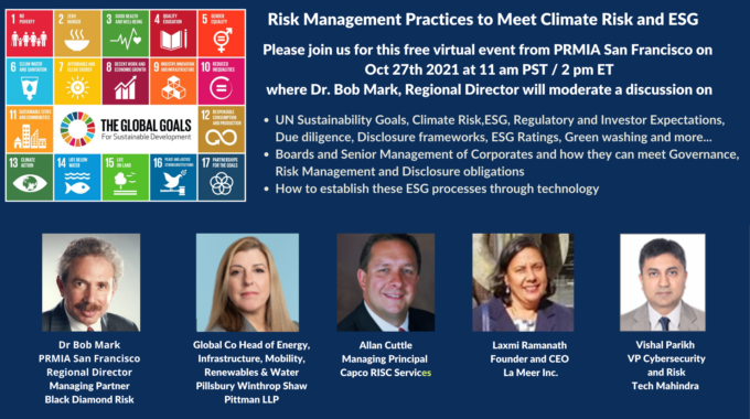 Laxmi Ramanath Speaking At The PRMIA Webinar On Risk Management Of Climate Risk And ESG